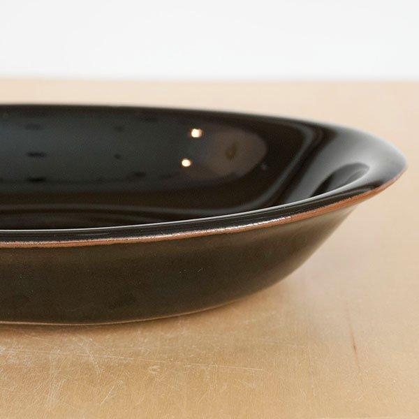 画像3: 【昇陽窯】小判皿 小(黒)