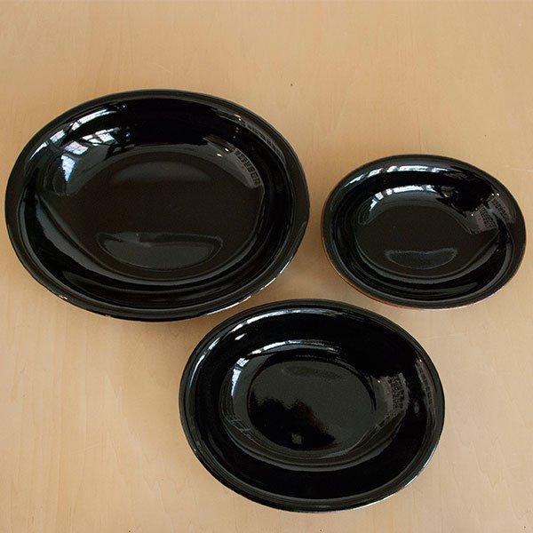 画像5: 【昇陽窯】小判皿 小(黒)
