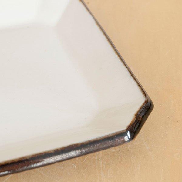 画像3: 【昇陽窯】隅切皿 4寸(白)